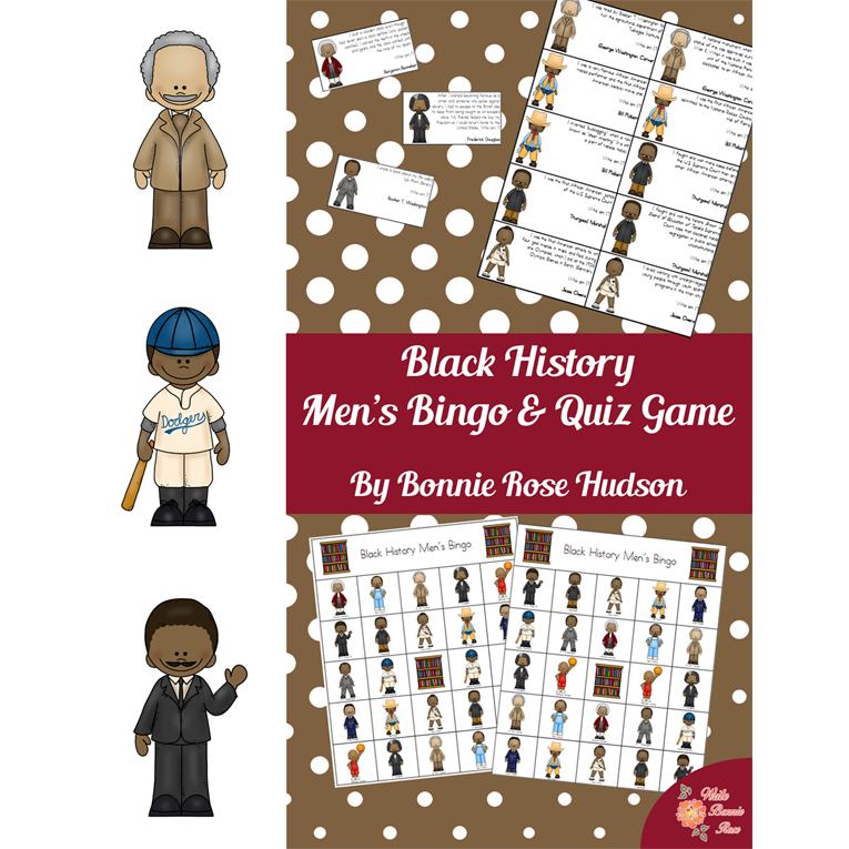 Black History Men's Bingo and Quiz Game (e-book)