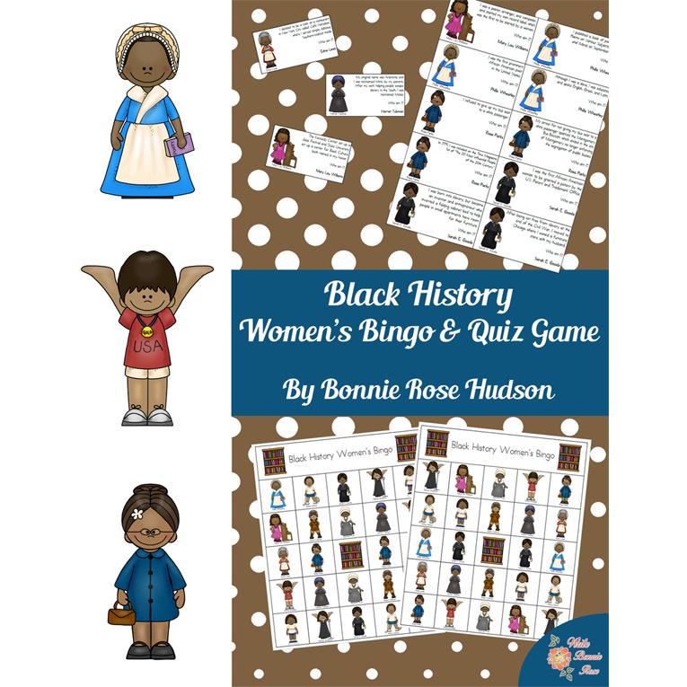 Black History Women's Bingo and Quiz Game (e-book)