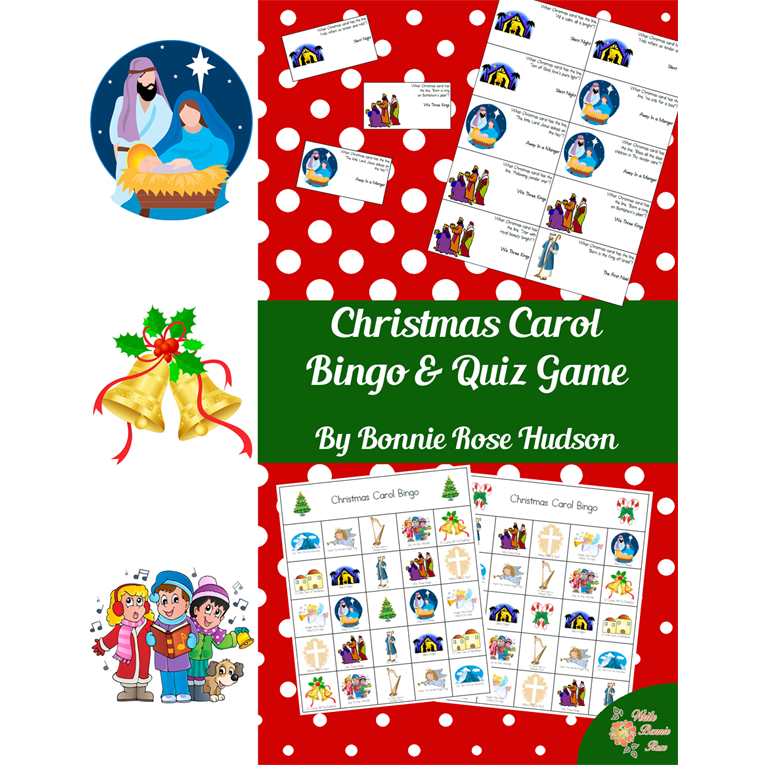 Christmas Carol Bingo & Quiz Game (e-book)
