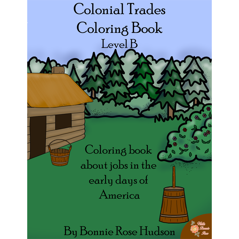Colonial Trades Coloring Book-Level B (e-book)