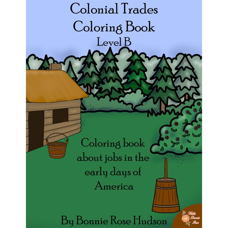 Colonial Trades Coloring Book Level B E