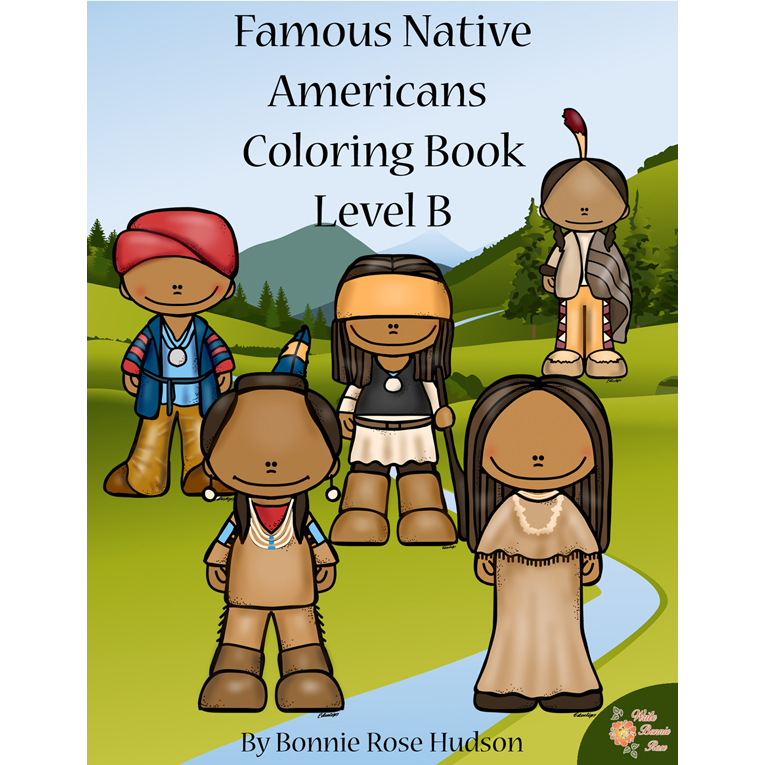 Famous Native Americans Coloring Book-Level B (e-book)