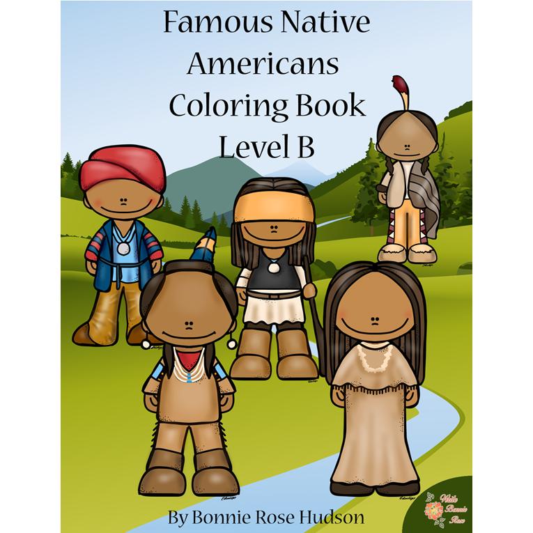Famous Native Americans Coloring Book-Level B (e-book)