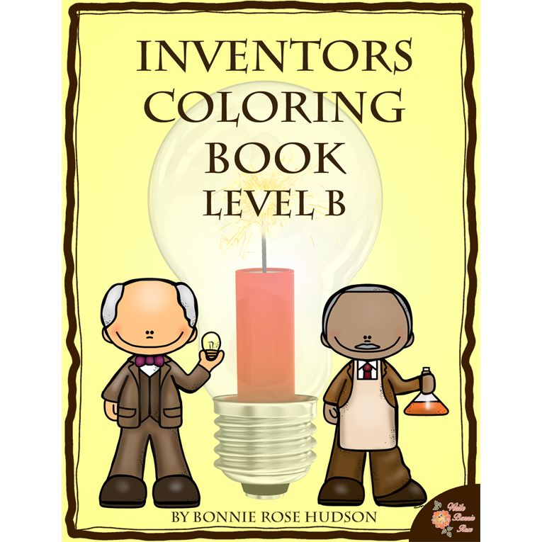 Inventors Coloring Book-Level B (e-book)