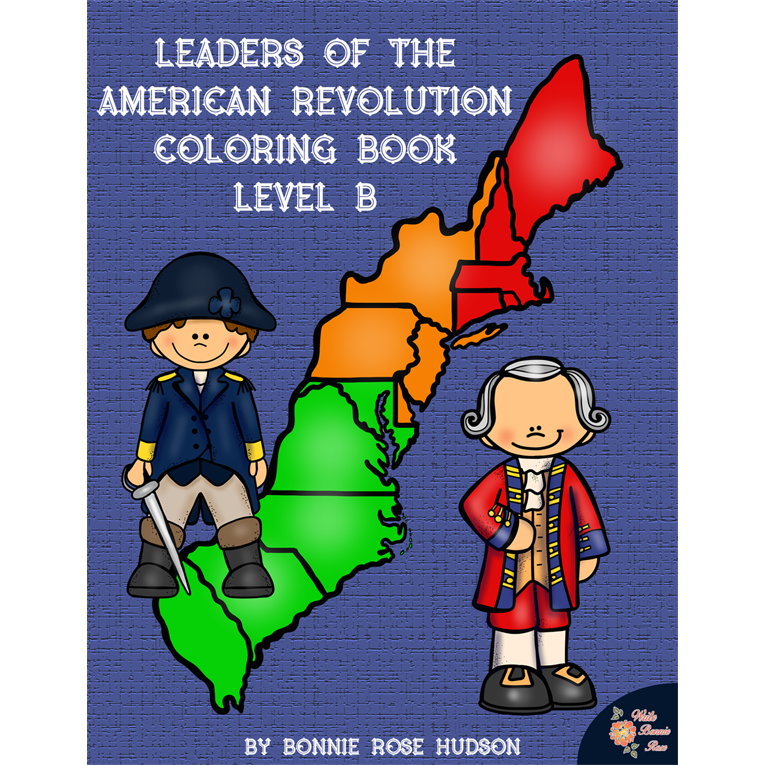 Leaders of the American Revolution Coloring Book-Level B (e-book)