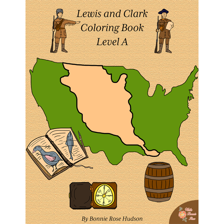 Lewis and Clark Coloring Book-Level A (e-book)