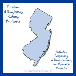 Free New Jersey State History Printable