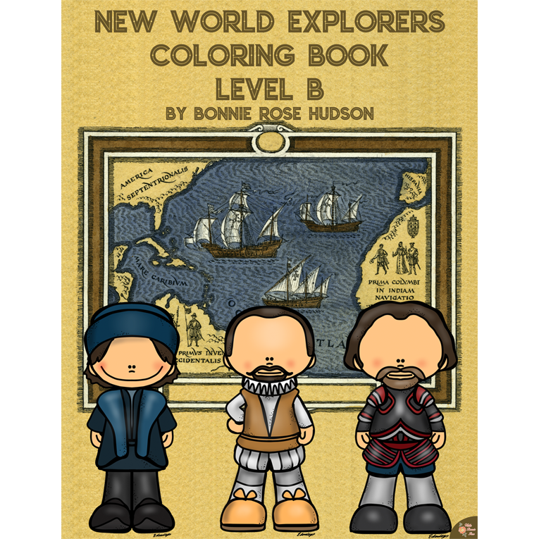 New World Explorers Coloring Book-Level B (e-book)