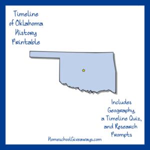 Free Oklahoma State History Printable
