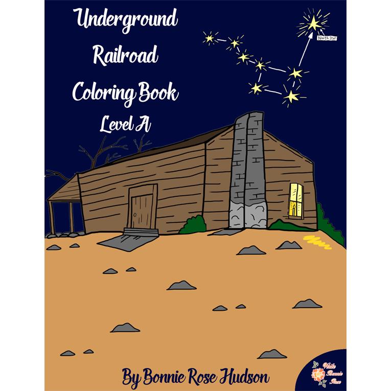 Underground Railroad Coloring Book-Level A (e-book)