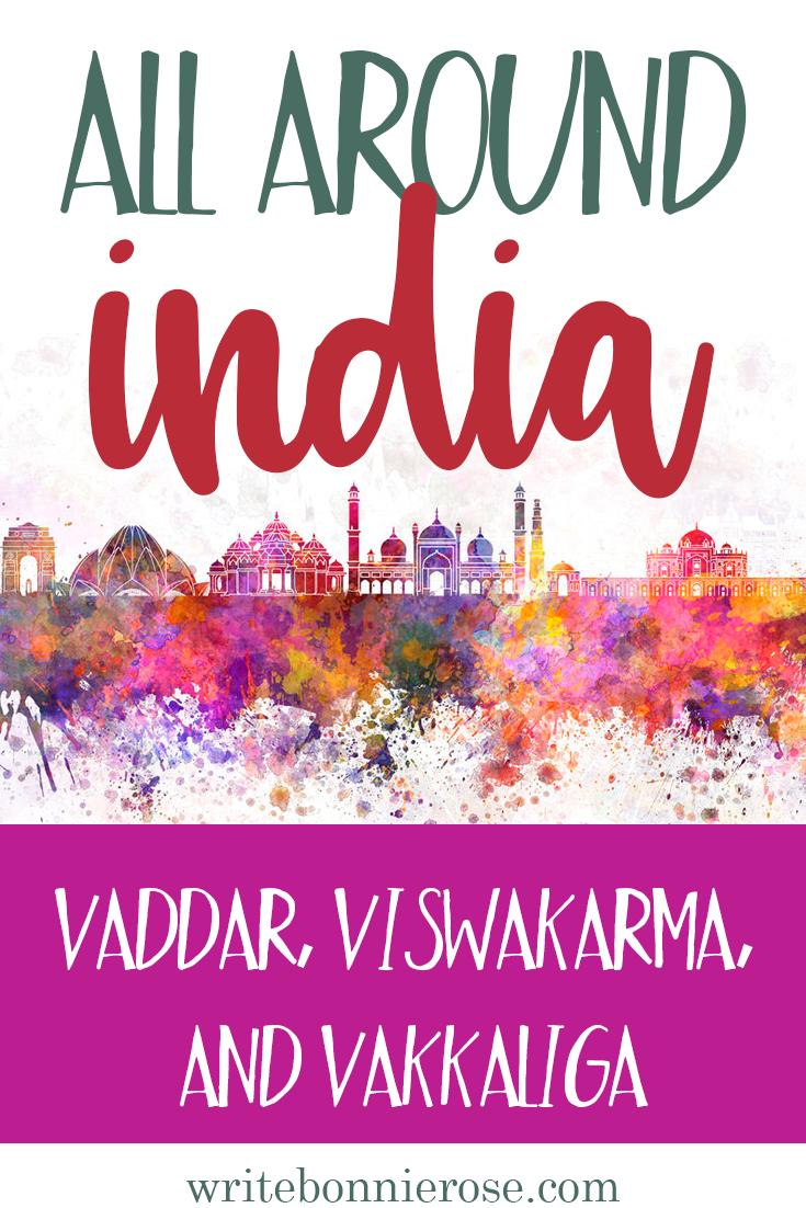 All Around India Notebooking Vaddar, Viswakarma, and Vakkaliga