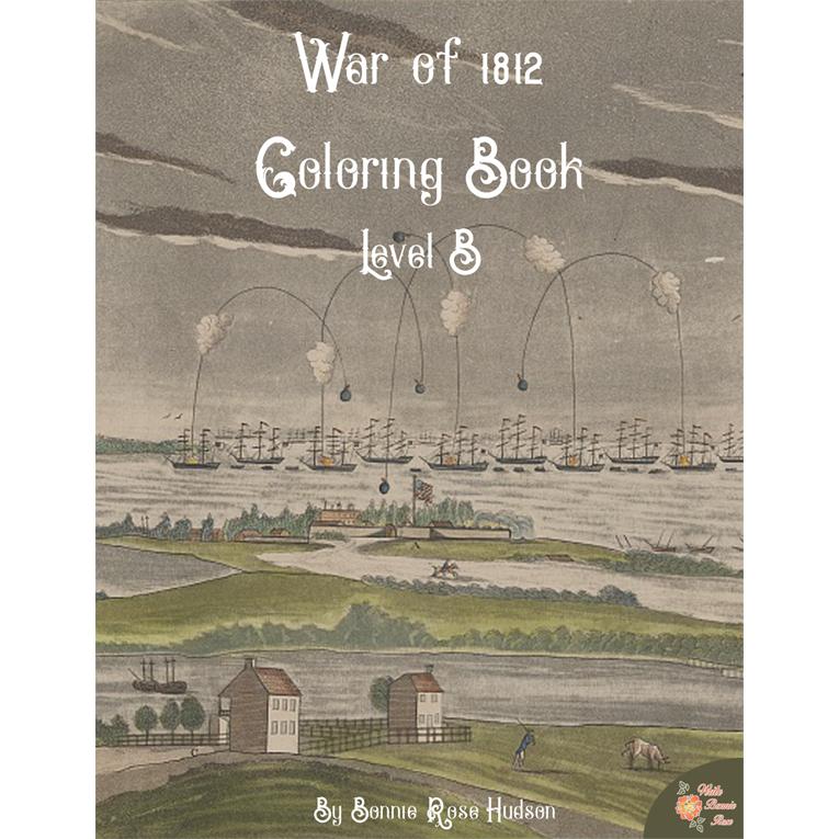 War of 1812 Coloring Book-Level B (e-book)