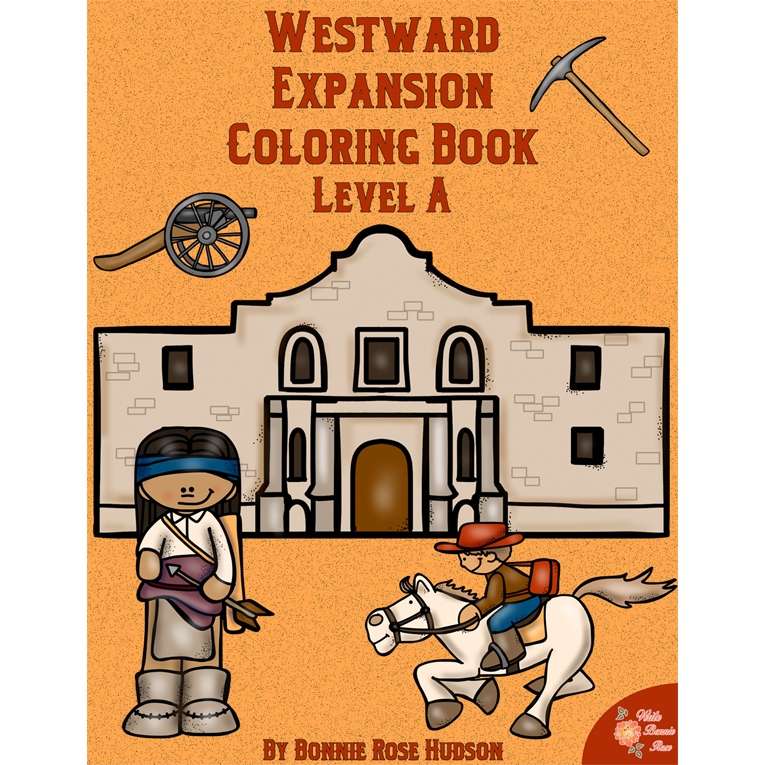 Westward Expansion Coloring Book-Level A (e-book)