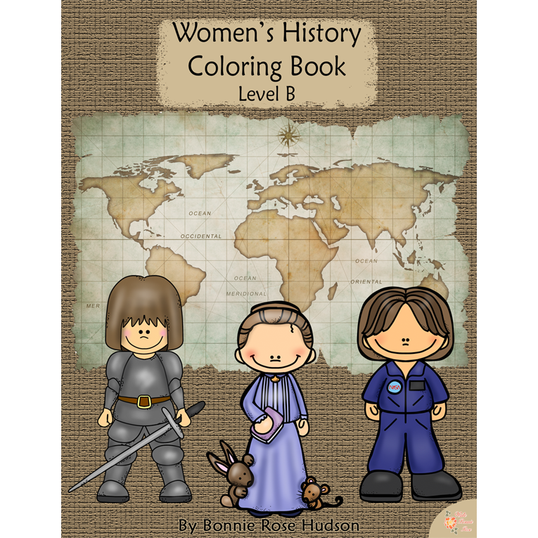 Women's History Coloring Book-Level B (e-book)