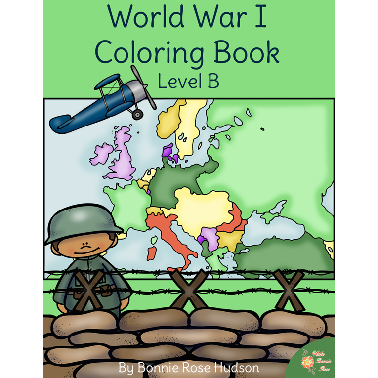 world war i coloring book level b e book