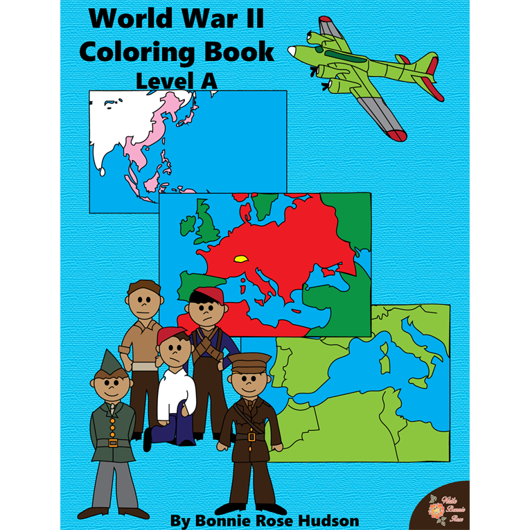 World War II Coloring Book-Level A (e-book)