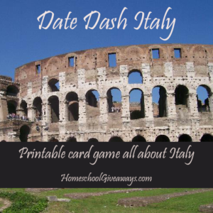 Date Dash Italian History Card Game