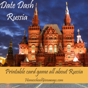 Date Dash Russian History Card Game