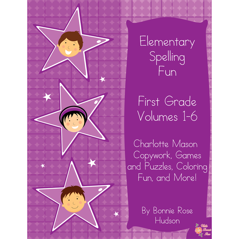 Elementary Spelling Fun First Grade Vol. 1-6 (e-book)