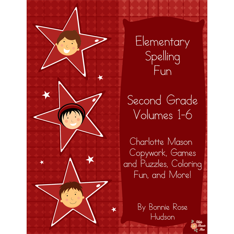 Elementary Spelling Fun Second Grade Vol. 1-6 (e-book)