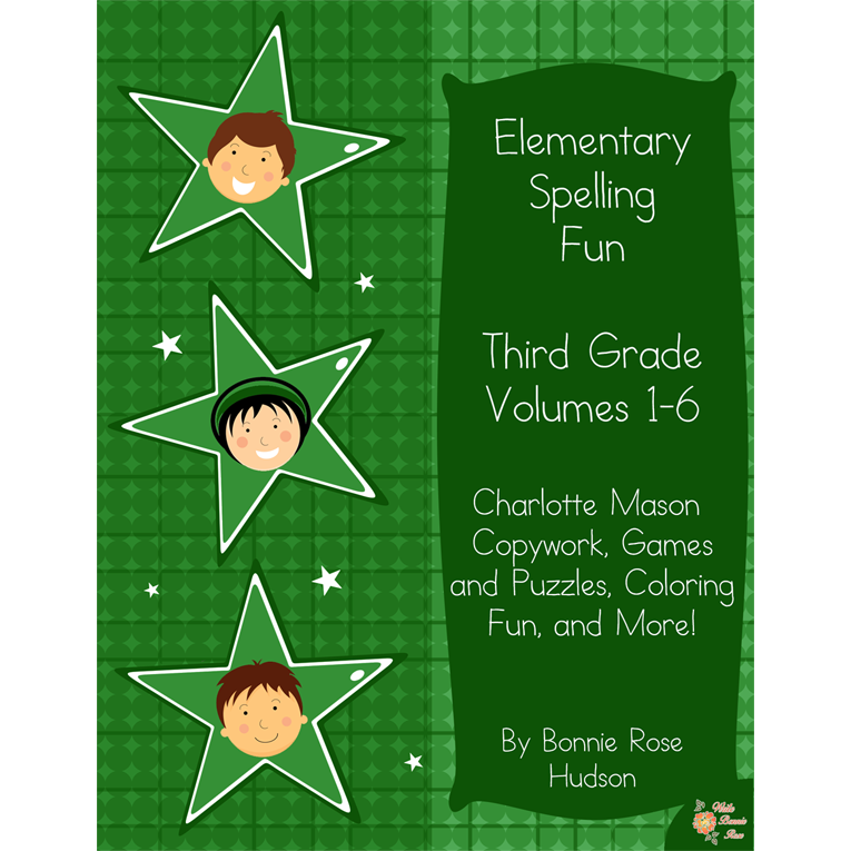 Elementary Spelling Fun Third Grade Vol. 1-6 (e-book)