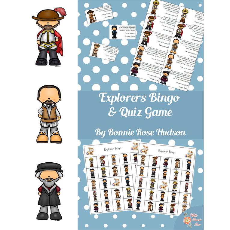Explorers Bingo and Quiz Game (e-book)