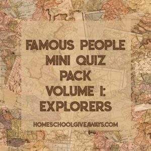FREE Famous People Mini Quiz Pack Volume 1 – Explorers