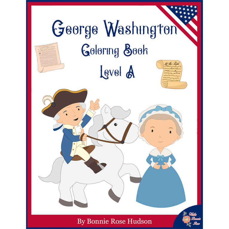 George Washington Coloring Book—Level A (e-book)