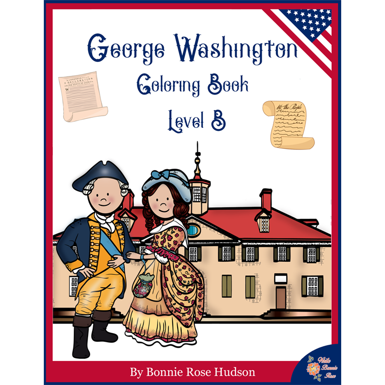 George Washington Coloring Book—Level B (e-book)