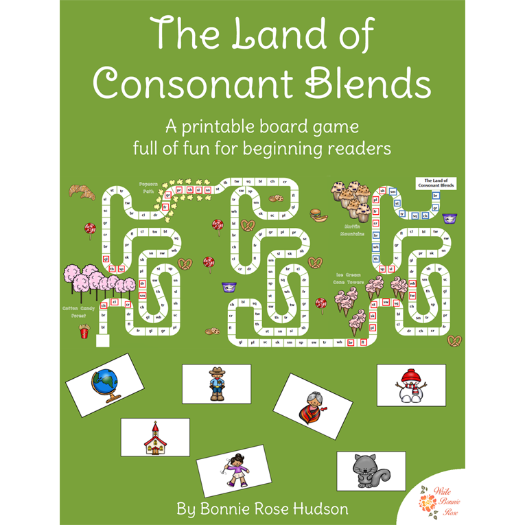 The Land of Consonant Blends Board Game (e-book)