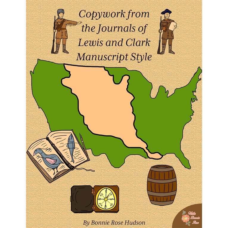 Copywork from the Journals of Lewis and Clark-Manuscript Style (e-book)