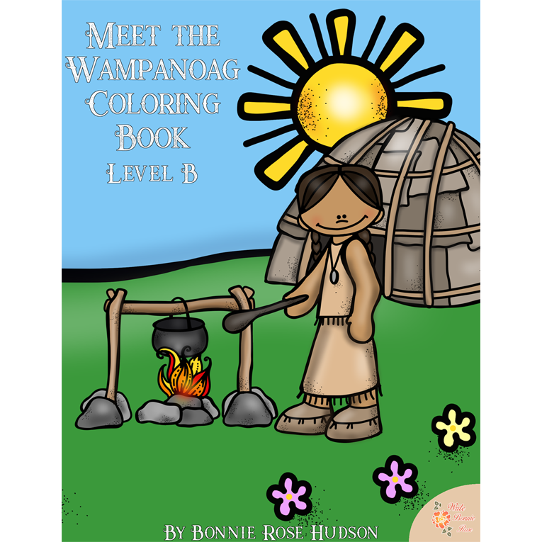 Meet the Wampanoag Coloring Book-Level B (e-book)