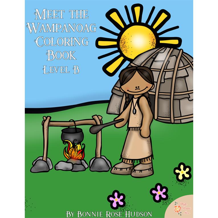 Meet the Wampanoag Coloring Book-Level B (e-book)