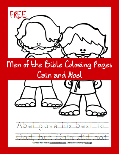 Free Men of the Bible Coloring Page-Cain and Abel