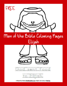 Free Men of the Bible Coloring Page-Elijah
