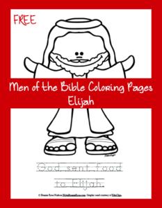 Free Men of the Bible Coloring Page-Elijah