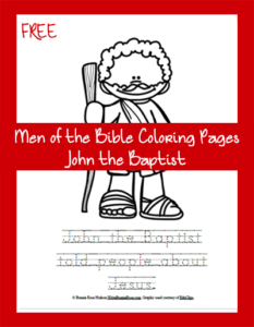 Free Men of the Bible Coloring Page-John the Baptist