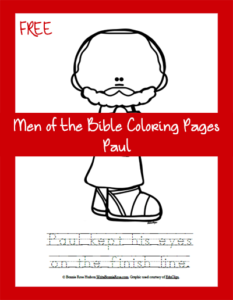 FREE Men of the Bible Coloring Page – Paul