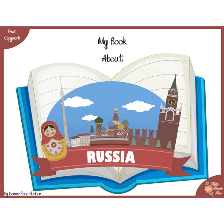 My Book About Russia with Print Copywork (e-book)