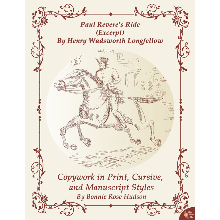Paul Revere's Ride by Henry Wadsworth Longfellow (Excerpt)-Copywork (e-book)
