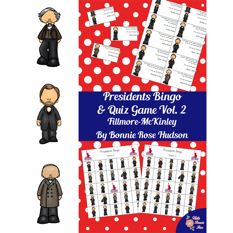 U.S. Presidents Bingo and Quiz Game, Volume 2 (e-book)