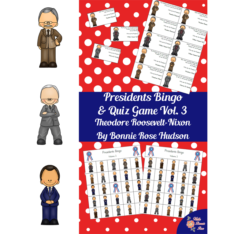 U.S. Presidents Bingo and Quiz Game, Volume 3 (e-book)