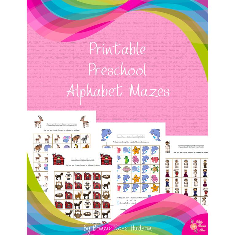 Printable Preschool Alphabet Mazes (e-book)
