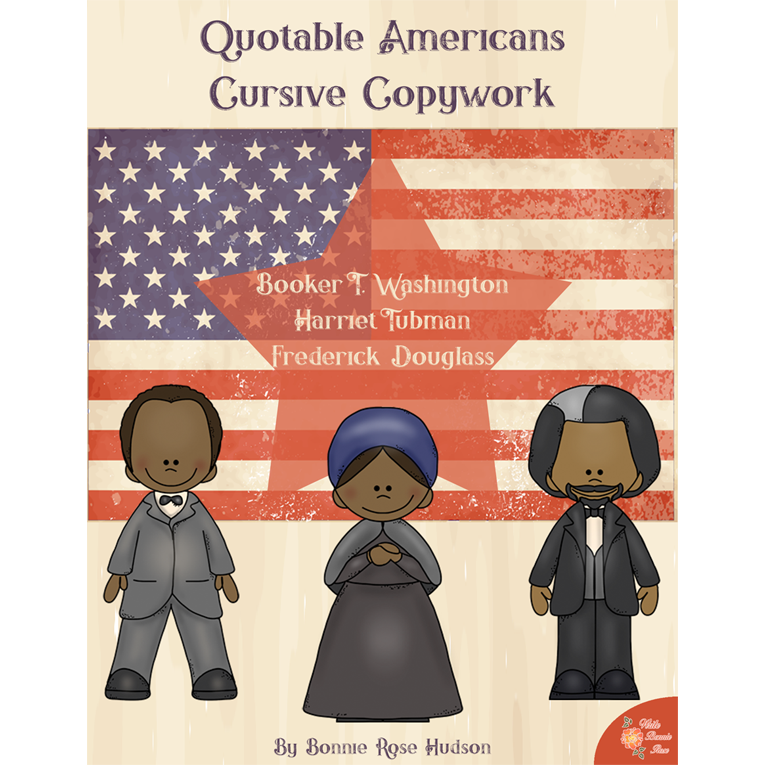 Quotable Americans Copywork-Cursive (e-book)