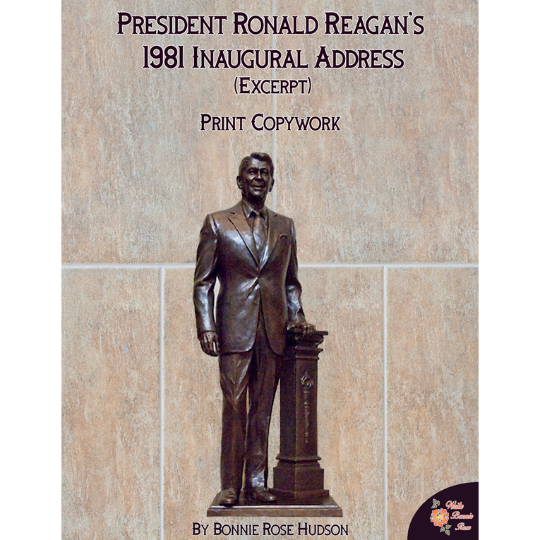 President Ronald Reagan's 1981 Inaugural Address (Excerpt)-Print Copywork (e-book)