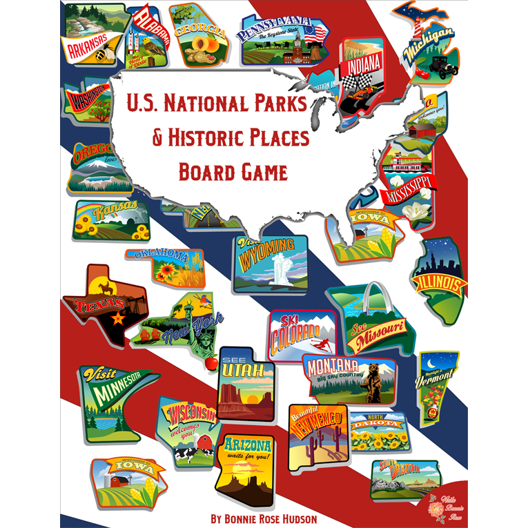 US National Parks and Historic Places Board Game Cover for WBR