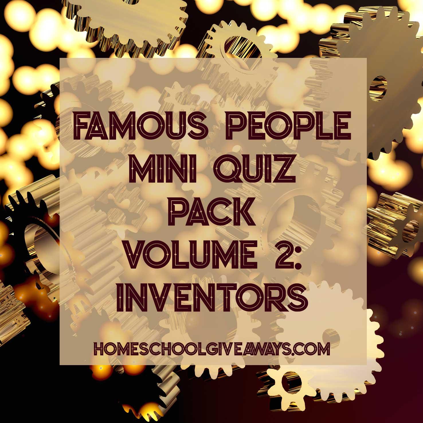 FREE Famous People Mini Quiz Pack Volume 2 – Inventors
