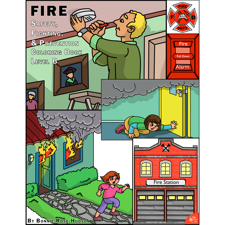 Fire Safety, Fighting, and Prevention Coloring Book-Level B (e-book)