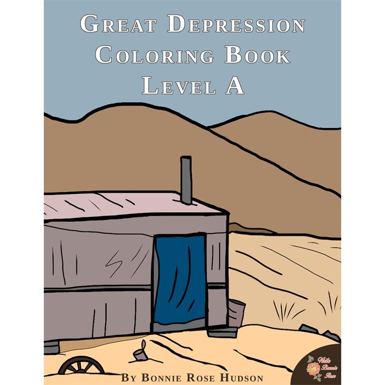 Great Depression Coloring Book-Level A (e-book)