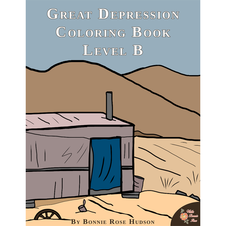 Great Depression Coloring Book—Level B (e-book)